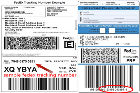 Online FedEx Tracking Number Barcode