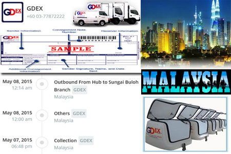 Online GDEX Tracking Number Barcode