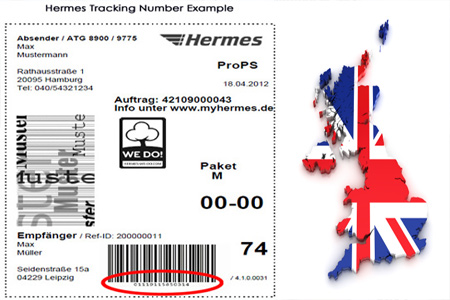 Online HERMES Tracking Number Barcode