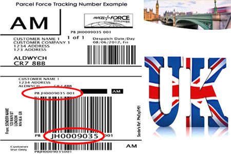Online Parcelforce Tracking Number Barcode