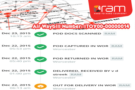 Online RAM Tracking Number Barcode