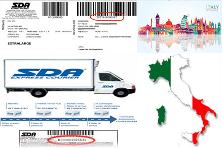 Online SDA Tracking Number Barcode