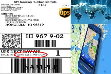 Online UPS Tracking Number Barcode