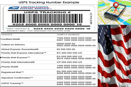 Online USPS Tracking Number Barcode