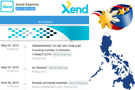 Online Xend Tracking Number Barcode